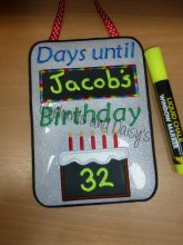 Birthday Countdown 5×7 Design file