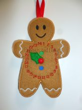 Gingerbread Advent Clock Design file