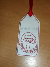 Santa Bookmark Design file