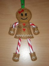 Candy Cane Gingerbread Girl Design file