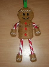 Candy Cane Gingerbread Man Design file