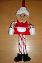 Mrs Claus Candy Cane Holder Design file