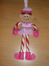 Elf Girl Candy Cane Holder Design file