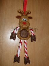 Reindeer Candy Cane Holder Design file