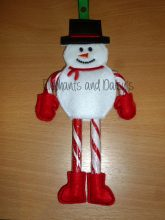 Candy Cane Snowman Design file