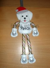Candy Cane Dog Design file
