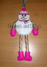 Candy Cane Snow Girl Design file
