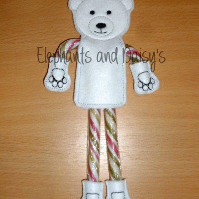 Candy Cane Polar Bear Design file
