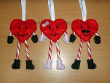 Candy Cane Heart Set Design files