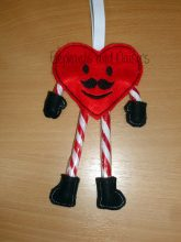 Candy Cane Heart Man Design file
