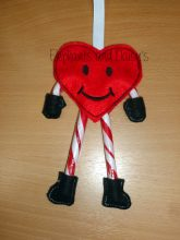 Candy Cane Heart Design file