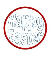 Happy Easter Colour Bauble Design file