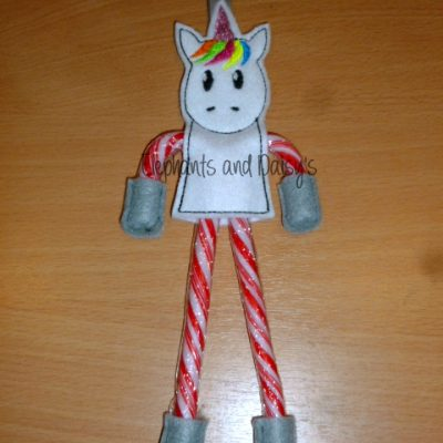 Candy Cane Unicorn Design file