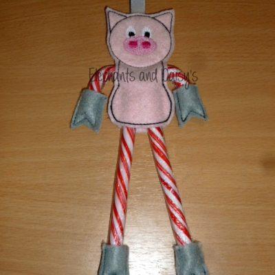 Candy Cane Pig Design file