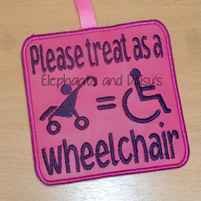 Please treat as a wheelchair tag Design file