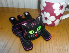 Stripy Cat Coaster Design file