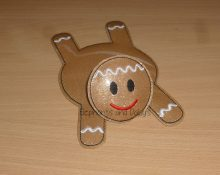 Gingerbread Man Coaster Design file