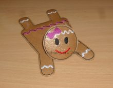 Gingerbread Girl Coaster Design file
