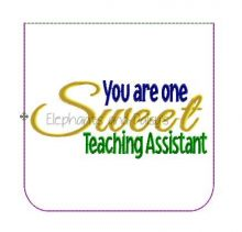 Sweet Teaching Assistant Pouch Design file