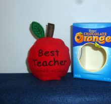 Best Teacher Apple Choc Orange Cosy Design file