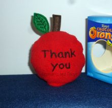 Thank you Apple Choc Orange Cosy Design file