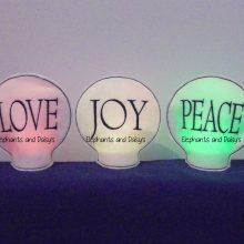 Love Joy Peace Tealight Holder Set Design files