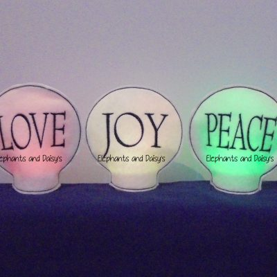 Love Joy Peace Tealight Holder Set Design files