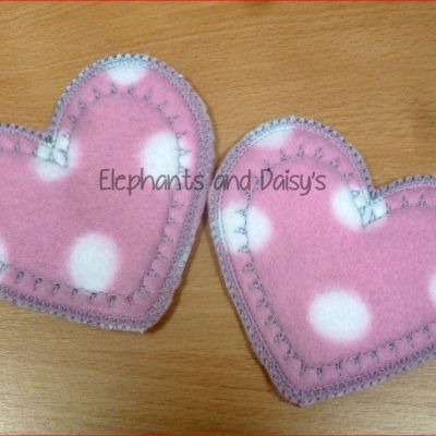 Heart Breast Pads Design file
