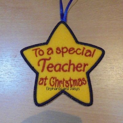 Teacher Christmas Star Design file