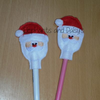 Santa Pencil Topper Design file