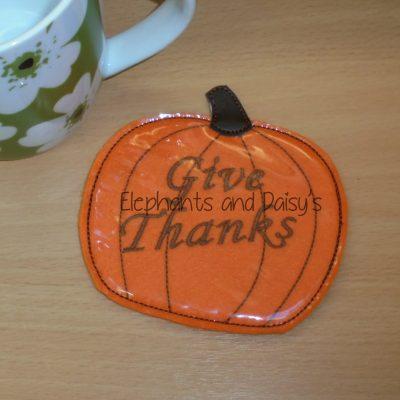 Pumpkin Coaster Design file