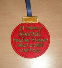 Special Teacher Bauble Design file