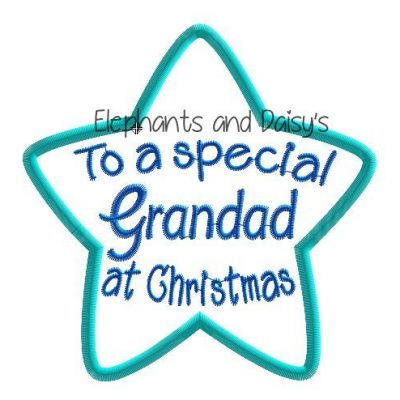 Grandad Christmas Star Design file