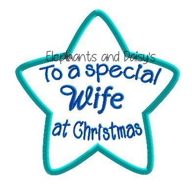 Wife Christmas Star Design file